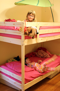 Bunk beds for everyone!