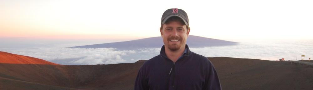 Matthew Boynes on Mauna Kea at sunset