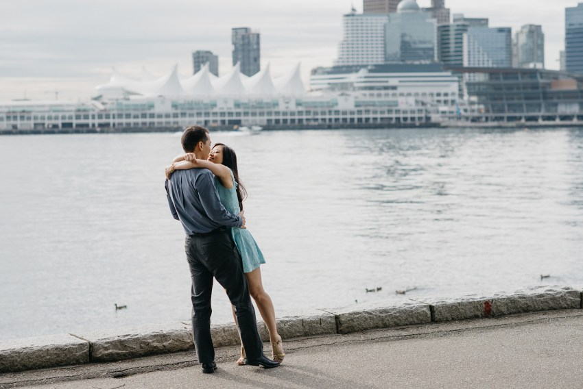 stanley park sea wall engagement