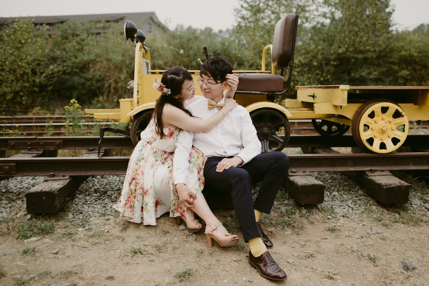 fort langley engagement shoot