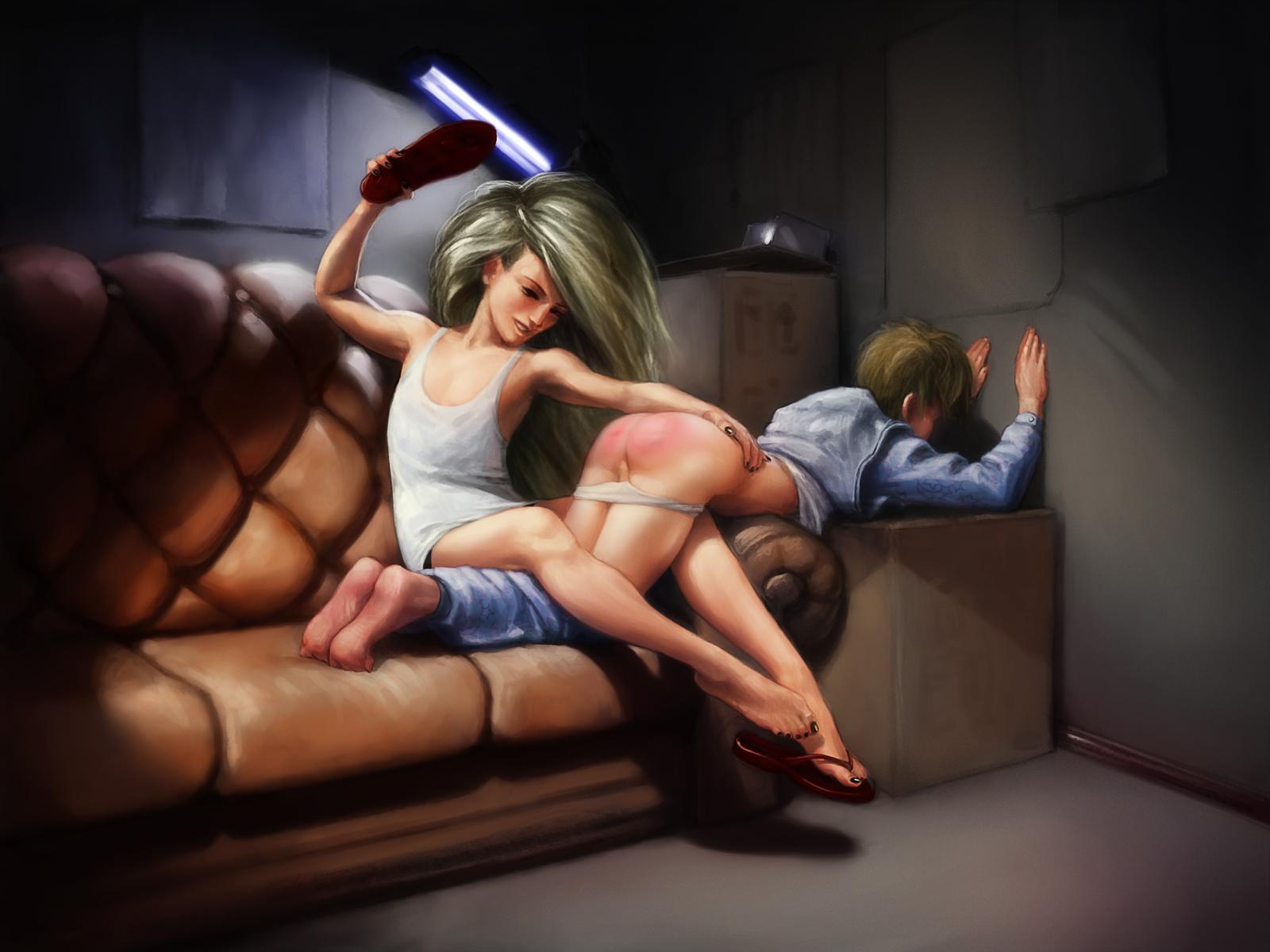 j tesker spanking art otk