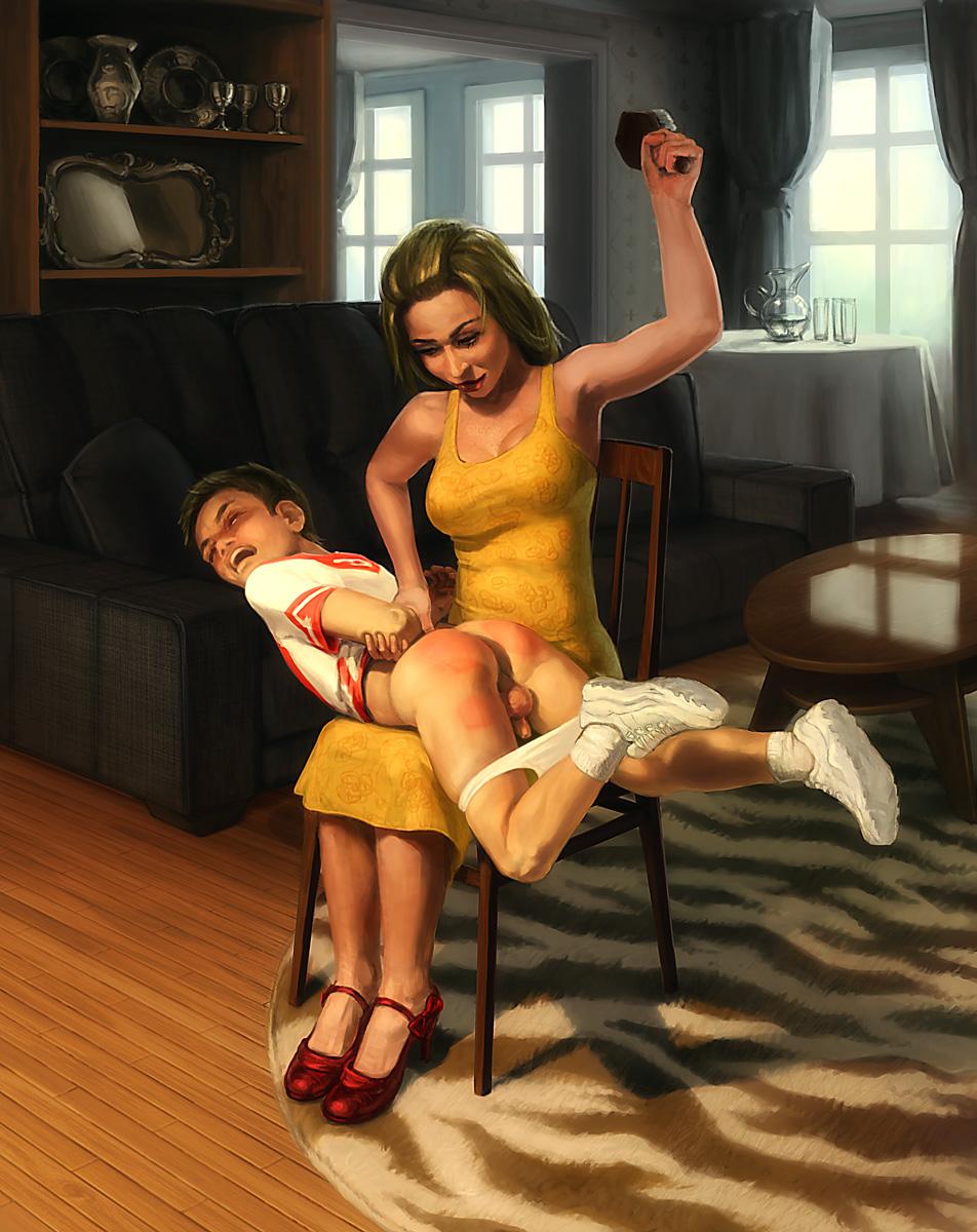girl spanking art