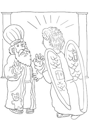 angel visits zechariah coloring page - an angel visits zechariah kevin spear