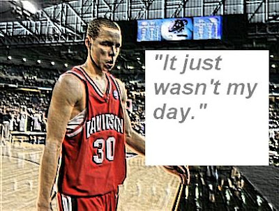 Stephen Curry couldn't save Davidson this time walking off disappointed.