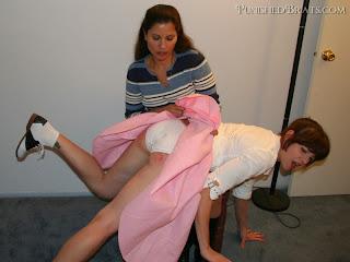 spanked over panties