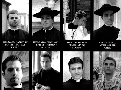 Priest calendar from AT THE ROME Blog