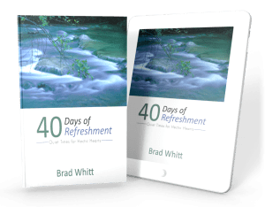Brad Whitt Book Cover 40 Days