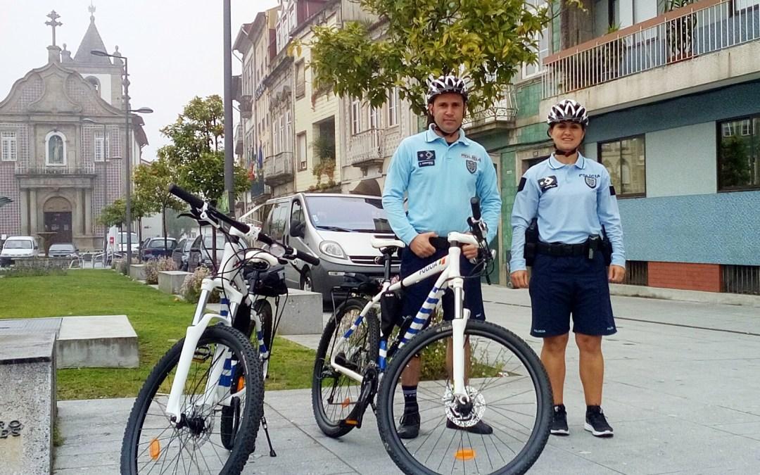 PSP volta a patrulhar Braga de bicicleta