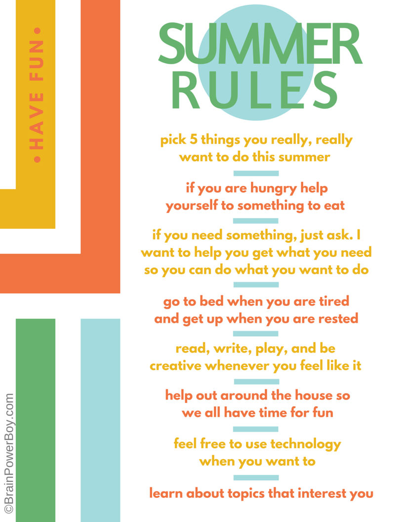 photograph relating to Summer Rules Printable known as aspects by yourself do inside the summer season