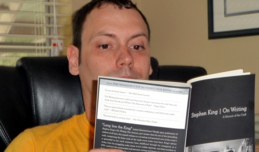 "Ian reading ""On Writing"" by Stephen King."