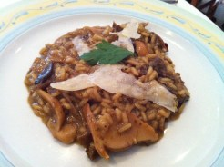 Porcini Mushroom Risotto with White Truffle Oil and Parm