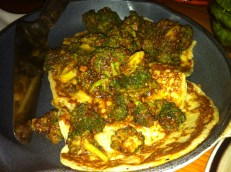 Eggplant Crepes with Hazelnut Broccoli