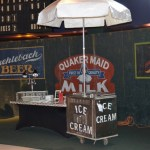 Playing into the baseball theme of the event, we turned a standard ice cream bar into a concession stand to feel more like a stadium environment.
