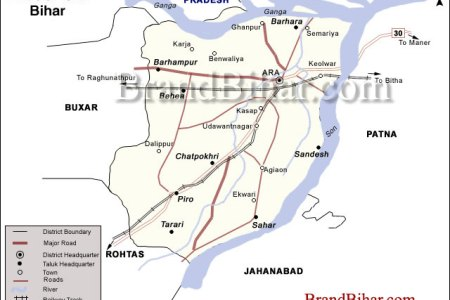 bhojpurr map of bhojpur bihar bhojpur district map