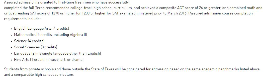 texas college essay requirements Act and sat essay requirements - class of 2018 and beyond school region sat essay texas a&m university college station: south: optional: optional: texas christian university: south: i didn't see anything on duke's site about the new sat essay & the college board's list doesn.