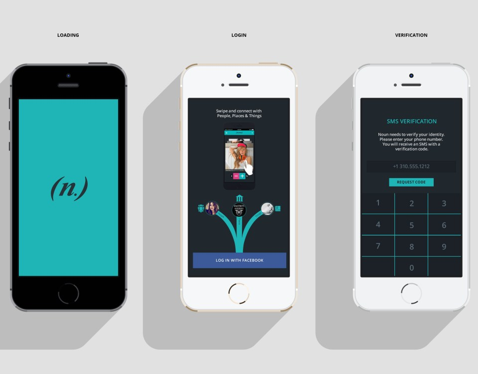 Noun Mobile App: Authentication UX-UI Design
