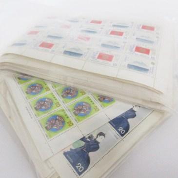 切手シート大量 買取!
