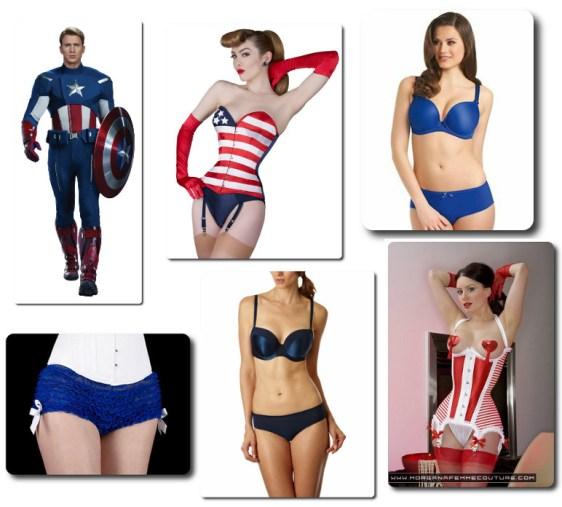 Captain America lingerie2