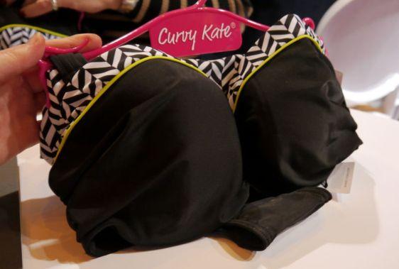 Curvy Kate Swim Hypnotic Bandeau Bikini in Monochrome Olive (Curvy Kate AW16)