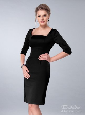 DD Atelier Satin Dress Black