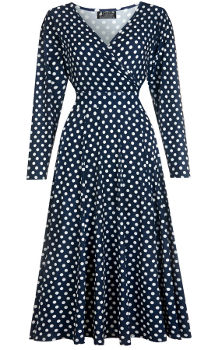Lady V London Polka Dot Lyra Dress