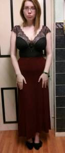 Lingerie as outerwear - Gossard Desire Soft Body with Maxi Skirt (1)