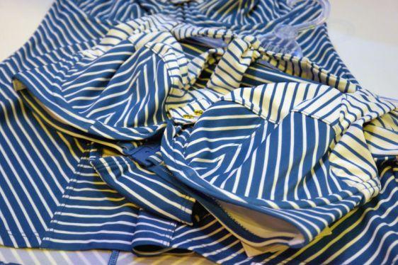 Panache Swim Britt Stripe Bikini in Aqua White (Panache Swim AW16)