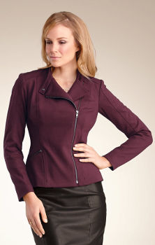 Pepperberry Ponte Biker Jacket Plum
