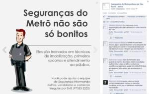 Campaña de Metro de São Paulo en Facebook.