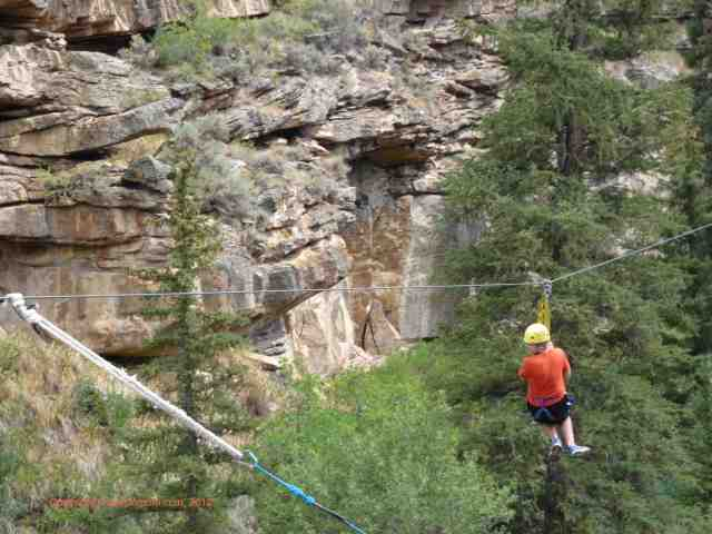 ziplining on zipline 6 zip adventures