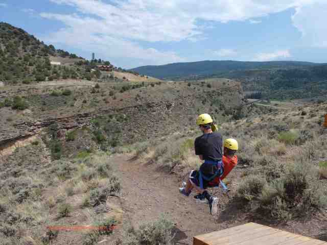 tandem takeoff at zip adventures vail colorado