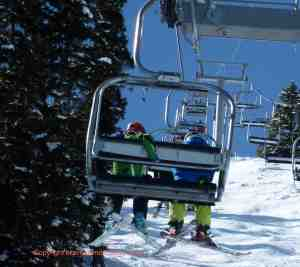 boys on chairlift