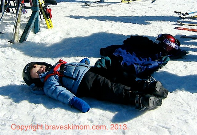 Tired skier