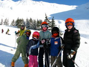alyeska bright helmets kids skiing