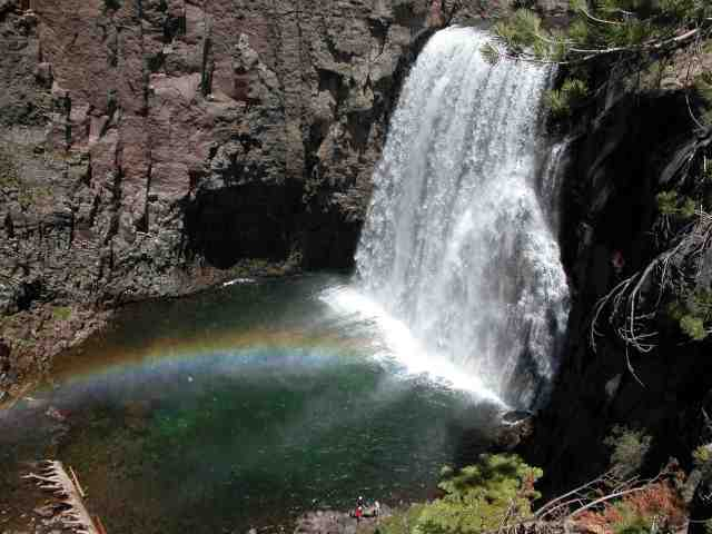 Rainbow Falls mammoth california