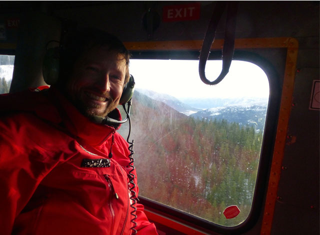 Larry heli ski guide