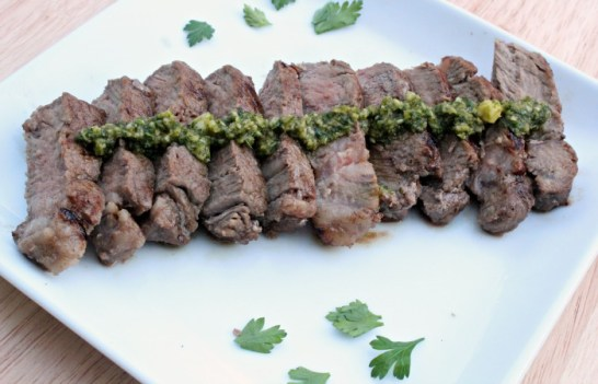 herb topped steak