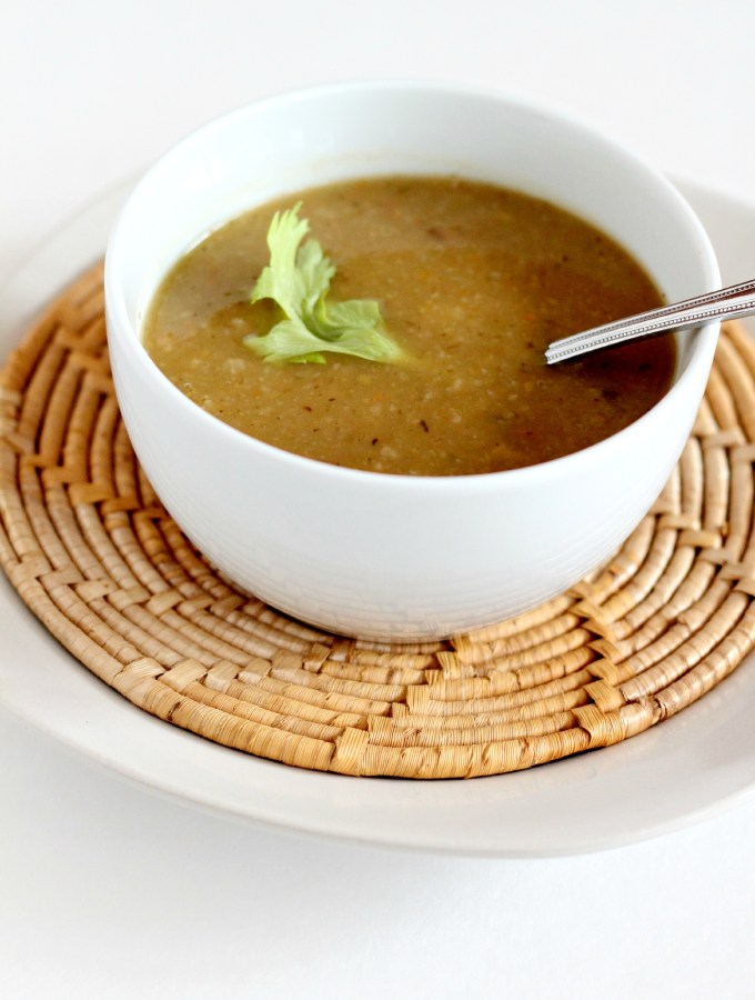 This Potato and Turnip Soup is great for lunch with a side salad!