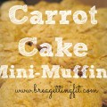Super easy carrot cake mini muffins