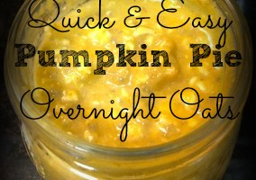 Pumpkin Pie Overnight Oats. Yes, please!