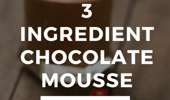 3 Ingredient Chocolate Mousse {With Coconut!}