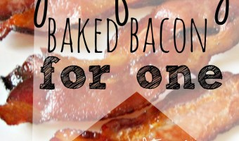 Perfectly Baked Bacon For One