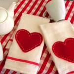 PB Inspired Valentine Tea Towels
