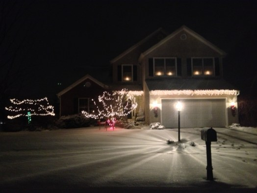 The Brenner Home after the first snow for Dec. 2012