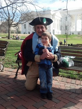 George Washington and Sam (my 4 year old son)