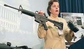 Sen. Feinstein received special permission for D.C. authorities to display these weapons in her demonstration.