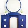 Blue Vanity Makeover