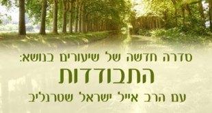 התבודדות א' – חיבור לחיים – הרב אייל ישראל שטרנליב