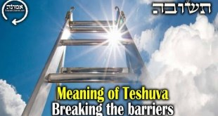 Meaning of Teshuva | Breaking the barriers