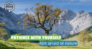 Patients with yourself | Not afraid of failure